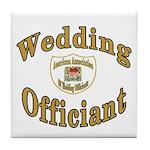 American Assn Wedding Officiants Tile Coaster