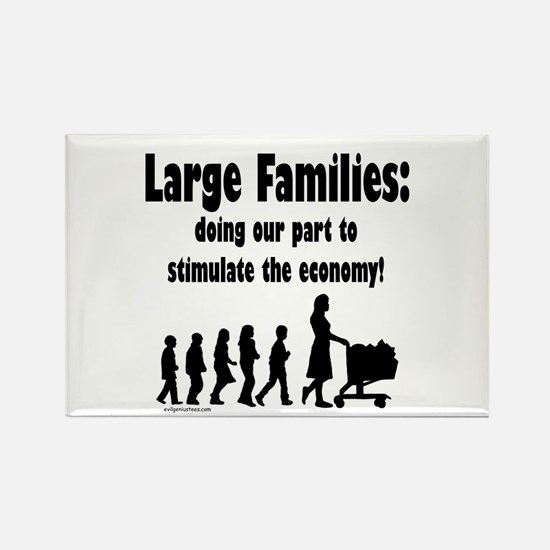 Funny Large families Rectangle Magnet