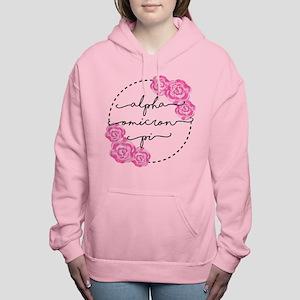 Alpha Omicron Pi Floral Women's Hooded Sweatshirt