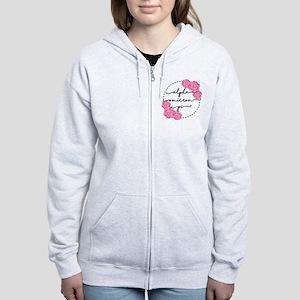 Alpha Omicron Pi Floral Women's Zip Hoodie