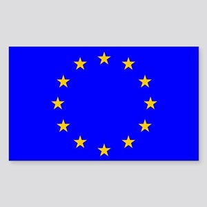 european union flag Sticker (Rectangular