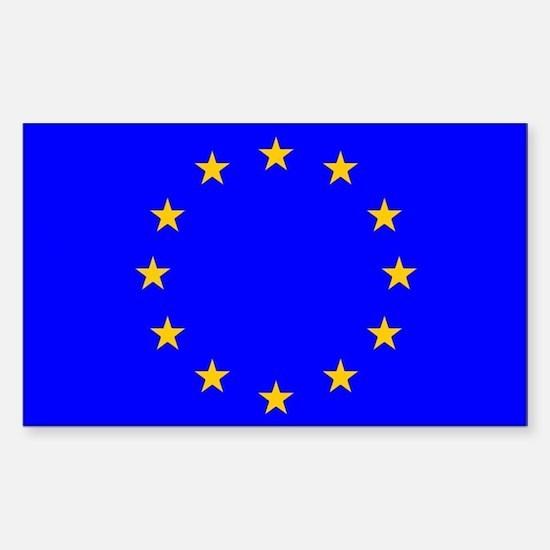 european union flag Sticker (Rectangular