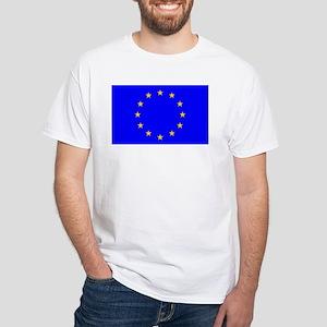 european union flag White T-Shirt