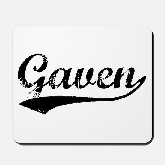 Vintage Gaven (Black) Mousepad