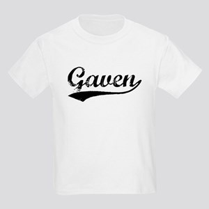 Vintage Gaven (Black) Kids Light T-Shirt