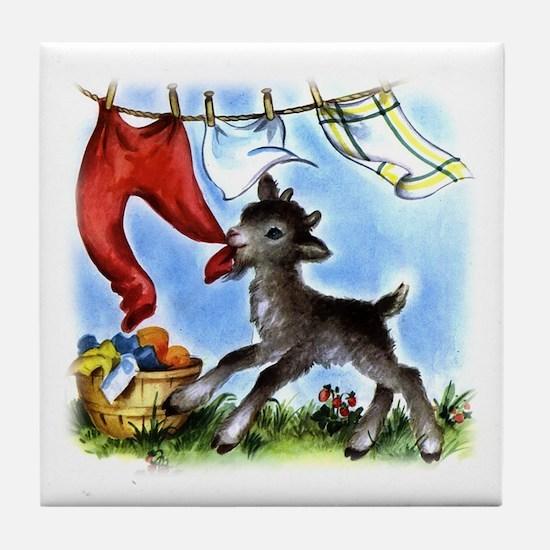 Laundry Thief Tile Coaster