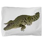 Nile Crocodile crawl Pillow Sham