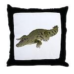 Nile Crocodile crawl Throw Pillow