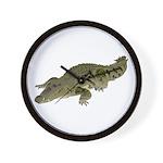 Nile Crocodile crawl Wall Clock