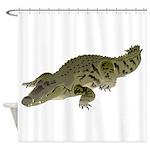 Nile Crocodile crawl Shower Curtain