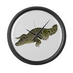 Nile Crocodile crawl Large Wall Clock
