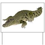 Nile Crocodile crawl Yard Sign