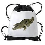 Nile Crocodile crawl Drawstring Bag