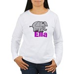 Ella - Elephant Women's Long Sleeve T-Shirt