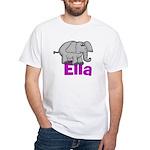 Ella - Elephant White T-Shirt