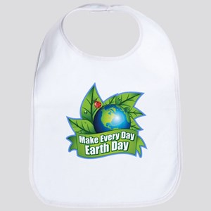 Make Every Day Earth Day Cotton Baby Bib