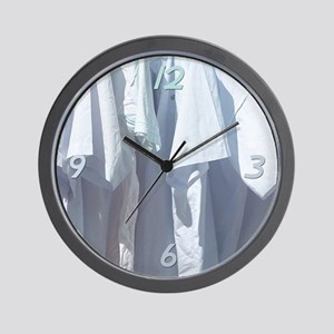 Clean Shirts Wall Clock
