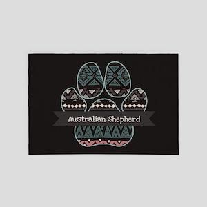 Australian Shepherd 4' x 6' Rug