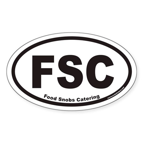 FSC Food Snobs Catering Euro Oval Sticker