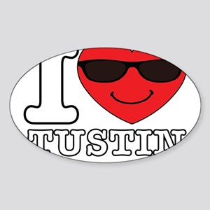 I Love Tustin Transparent Sticker