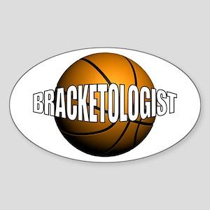 Bracketologist - Oval Sticker