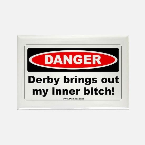 Derby Danger! Rectangle Magnet
