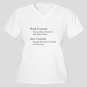 Jazz Concert Women's Plus Size V-Neck T-Shirt