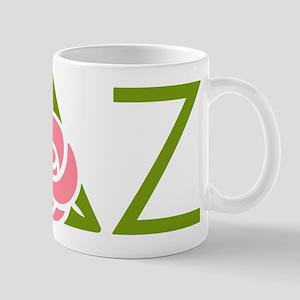 Delta Zeta Letters Mugs