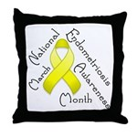 Endometriosis Month Throw Pillow