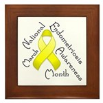 Endometriosis Month Framed Tile
