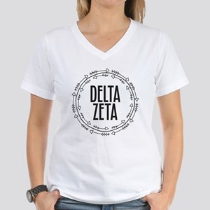 Delta Zeta Arrows Women's V-Neck T-Shirt