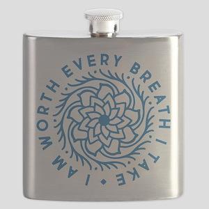 I'm Worth Every Breath I Take Flask
