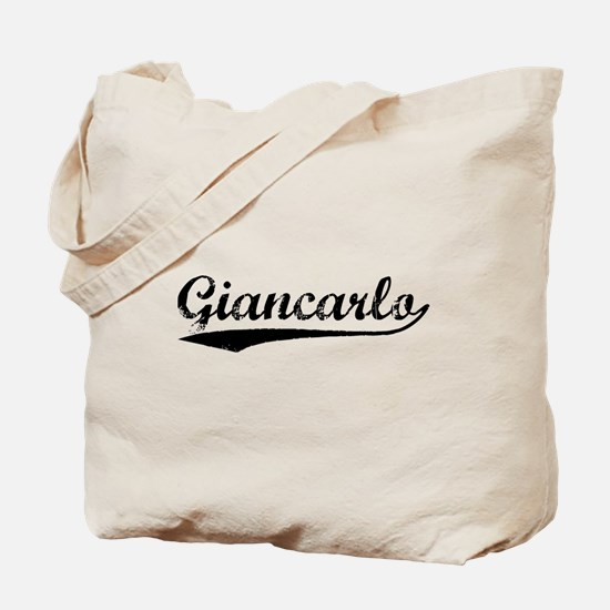 Vintage Giancarlo (Black) Tote Bag