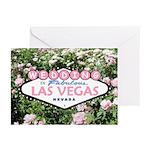 WEDDING In Fabulous Vegas Pink Roses Cards 10