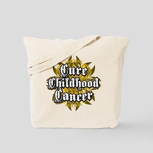 Childhood Cancer Tribal Tote Bag