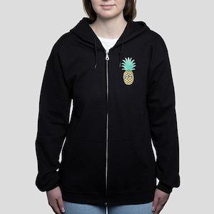 Delta Zeta Pineapple Women's Zip Hoodie