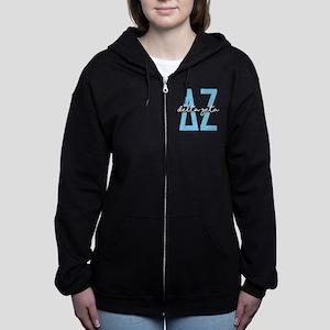 Delta Zeta Polka Dots Women's Zip Hoodie