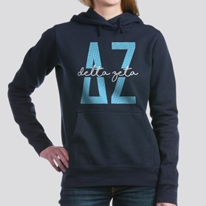 Delta Zeta Polka Dots Women's Hooded Sweatshirt