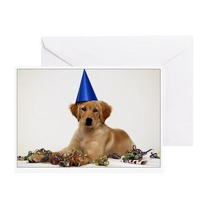 Golden Retriever Dance Birthday Greeting Cards Cafepress