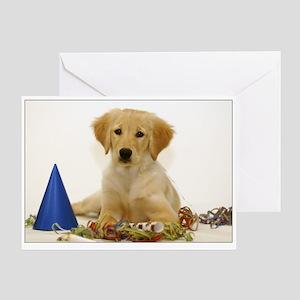 SNAPshotz Golden Retriever Puppy Birthday Card