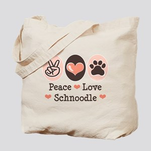 Peace Love Schnoodle Tote Bag