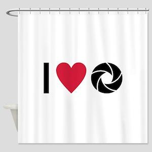 I love Photography Shower Curtain