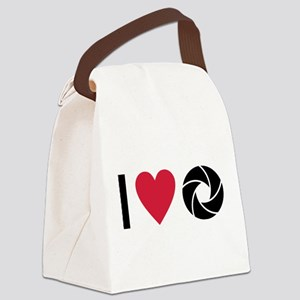 I love Photography Canvas Lunch Bag