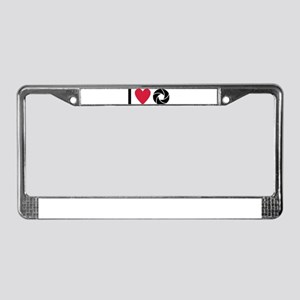 I love Photography License Plate Frame