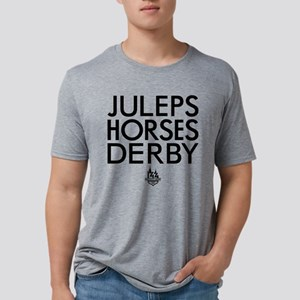 Juleps Horses Derby Mens Tri-blend T-Shirt