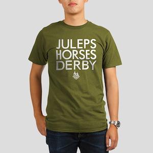 Juleps Horses Derby Organic Men's T-Shirt (dark)