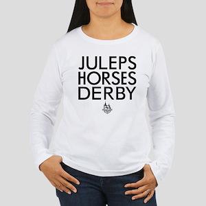 Juleps Horses Derby Women's Long Sleeve T-Shirt