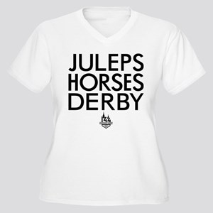 Juleps Horses Der Women's Plus Size V-Neck T-Shirt