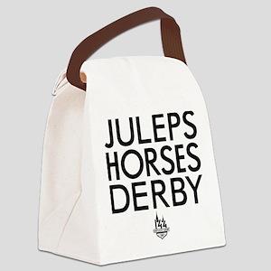Juleps Horses Derby Canvas Lunch Bag