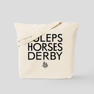 Juleps Horses Derby Tote Bag
